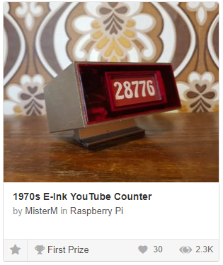 New Project! 1970s E-Ink @YouTube Counter – Old Tech  New Spec